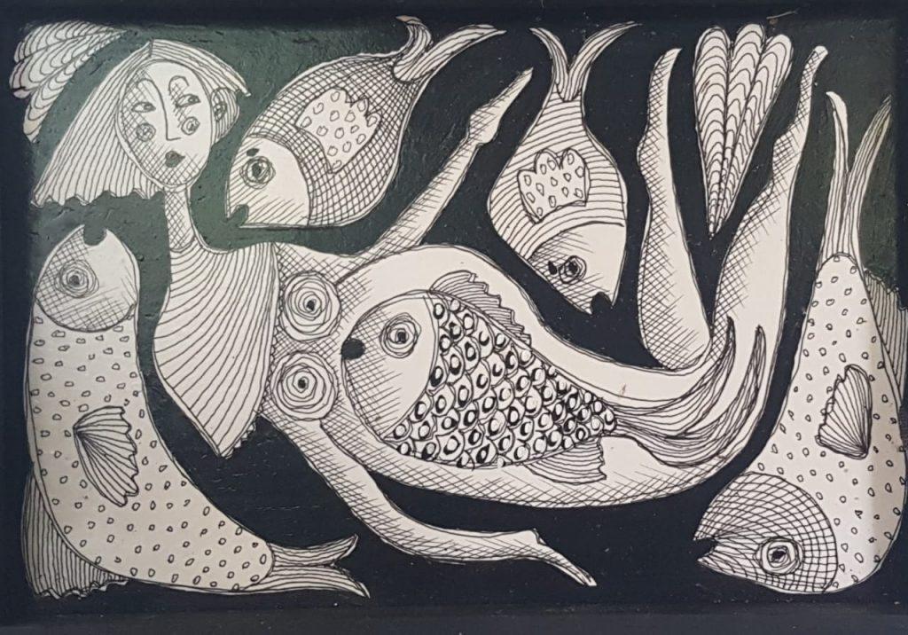 Exposição Desenhos da artista Vera Simon