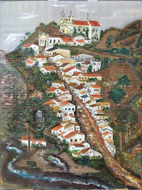 Exposição Outro Brasil Pra se Ver –  Artista TAYAA e sua técnica de Pinturentalhe.